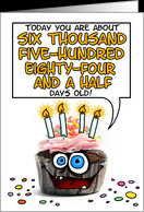 Happy birthday - 18 years old card - Product #277487