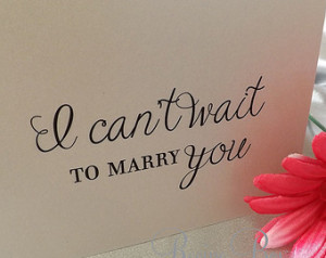 Can't Wait To Marry You Card, Wedding Cards To My Bride, To My Groom ...