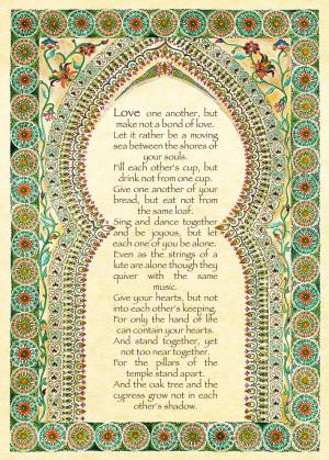 Khalil Gibran's Poem on Love