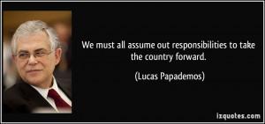More Lucas Papademos Quotes