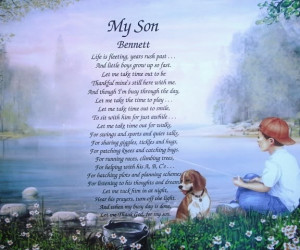 ... Sons Poems, Personalized Gift, Friendship Poems, My Sons Quotes