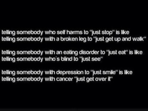 depression, eating disorder, hurt, quote, self harm, strong, truth