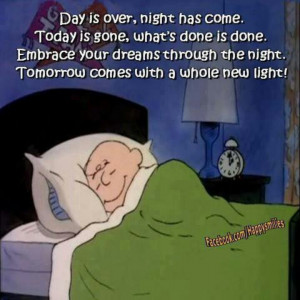 Cute Charlie Brown bedtime