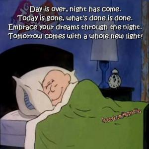 Cute Charlie Brown bedtime