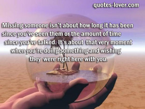 inspirational quotes missing someone
