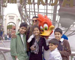 With Woody Woodpecker L R Ashutosh Lobo Gajiwala Madhur Mittal picture