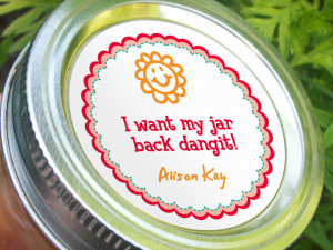 Return Canning Jar labels come in 3 different sayings