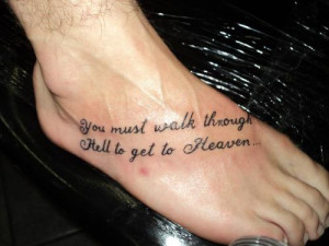 ... get to heaven quote tattoos hell heaven tattoos tattoo designs tattoo