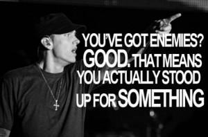 Eminem quote. Inspiring. Rap.