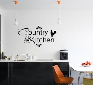... about COUNTRY KITCHEN Vinyl Wall quote Decal home Decor Wall Sticker