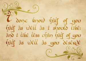 ... Bilbo Baggins' Party Speech Quote - Lord of the Rings - 5x7 Print. $8