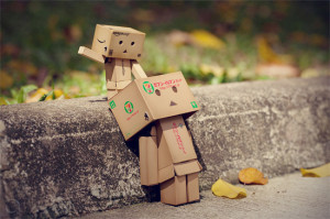 amazon, box, boxman, cardboard, cute