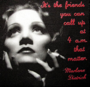 MARLENE DIETRICH QUOTE - Friends - Printed Patch - Sew On - Vest, Bag ...