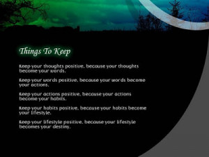 Inspirational Quotes and Sayings to maintain actions