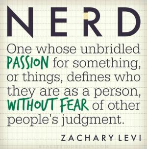 Zachary Levi Nerd Quote