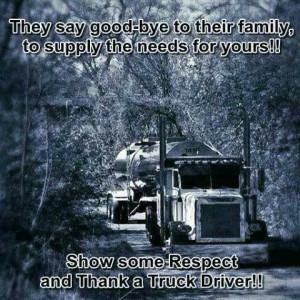 Thank a truck driver! www.onpointtruckeragency.com