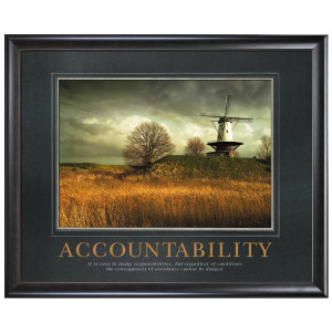 Accountability Windmill Motivational Poster (732922)
