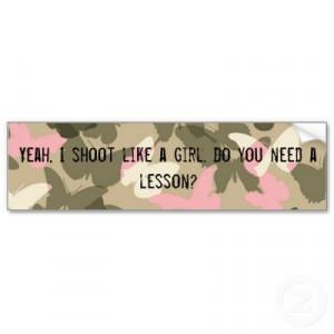 Shoot Like a Girl Bumper Sticker by Random_Fandom