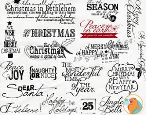 ... for DIY Holiday Card Making & Printing - Word Art - Sayings - Quotes