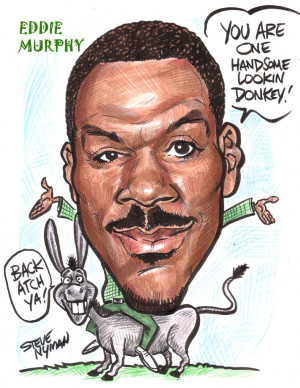 Caricature of Eddie Murphy by www.aaacaricatures.com