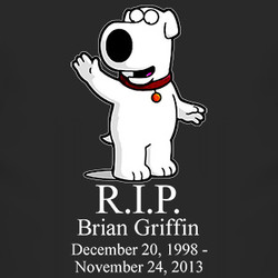 brian griffin rip tribute t shirt $ 18
