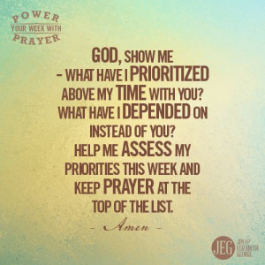 WeeklyPrayer by Jim George If your life is so busy you can't pray ...