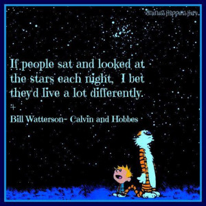 Star gazing Calvin and HobbesSky Quotes, Stars Gazing, Stars Dust ...