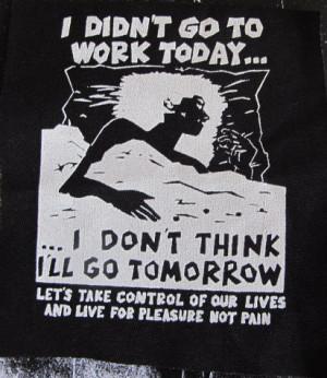 Anti Work Anarchist activist patch punk DIY Revolution Anarchy Radical ...