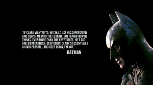 Batman Quote
