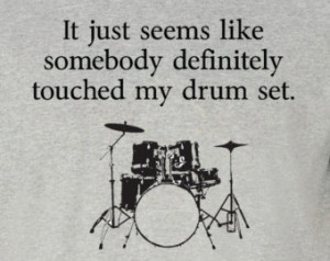 NEW somebody touched my drum set t-shirt - Step Brothers Sizes S - 2XL