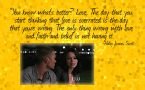 Nathan And Haley One Tree Hill Quotes