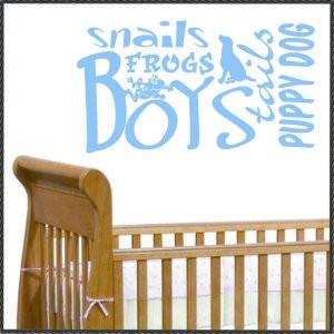 Vinyl Wall Words Quotes Nursery Decals Baby Boy