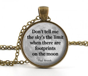 Sky Quote - Paul Brandt Quote Necklace - Full Moon Pendant - Quote ...
