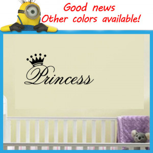 Crown-Wall-Quote-Decals-Removable-Stickers-Decor-Kids-Nursery-Art-Wall ...
