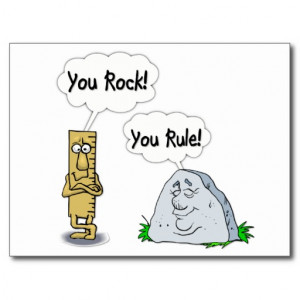 You Rock, You Rule Post Card