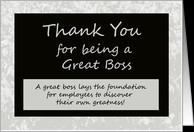 Bosses Day Card -- Thank You for Being a Great Boss card - Product ...