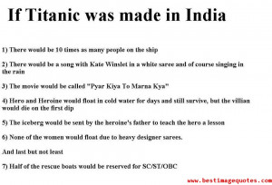 If Titanic was made in India [Funny Picture]
