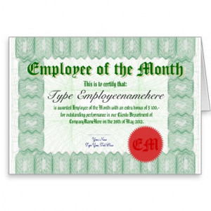 make_an_employee_of_the_month_certicate_award_card ...