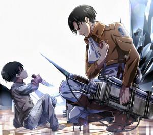 Levi Rivaille Attack on Titan Shingeki no Kyojin 3D Maneuver Gear Male ...