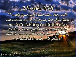 LinksterArt Bible Verses: 2 Timothy 4:3-4