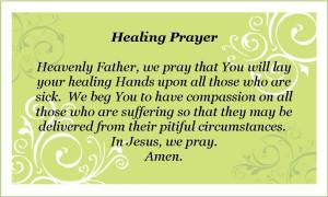 ... printable healing prayer please pray everyday click on image to print