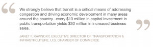 ... public transportation yields $30 million in increased business sales