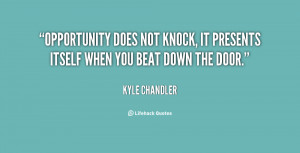 Opportunity Knocks Quotes Preview quote