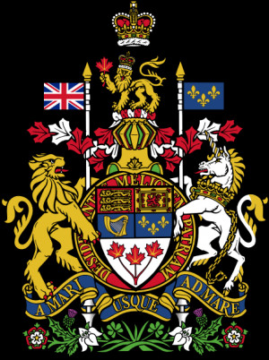 Royal coat of arms of Canada . Have a look at more Canadian related ...