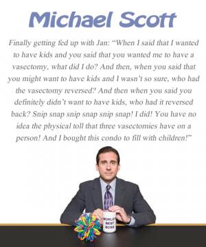 Michael Scott Quote - The Office - Vasectomy