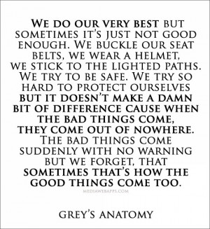 We do our very best but sometimes it's just not good enough. We buckle ...