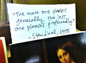 Stendhal, On Love
