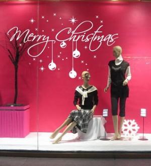 Christmas Quote Star Decoration Balls Glass Window Door Decor Holiday ...
