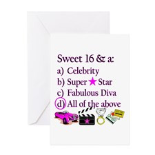 SWEET 16 DIVA Greeting Card for