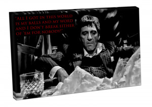 ... print scarface quotes print scarface wall art scarface movie art